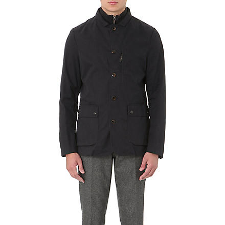 TED BAKER Cannun twill coat (Navy
