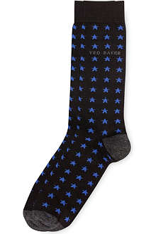 TED BAKER Yuduno star patterned socks