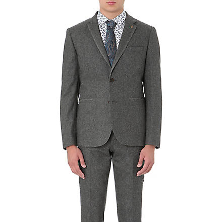 TED BAKER Forel flannel blazer (Grey