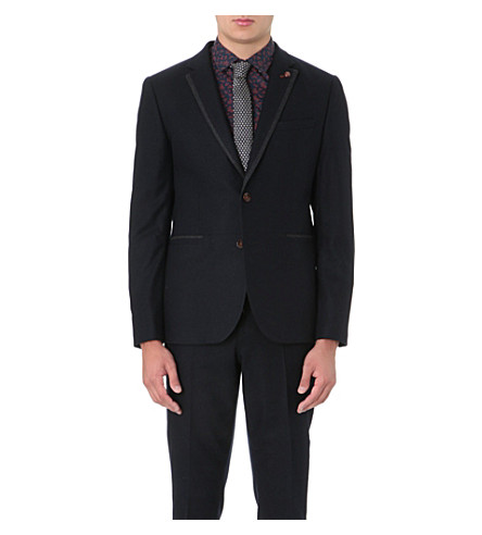TED BAKER Forel flannel blazer (Navy