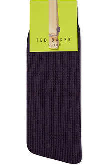 TED BAKER Ribbed organic cotton socks
