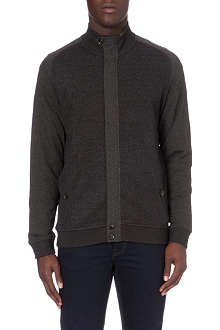 TED BAKER Herringbone zip-through cardigan