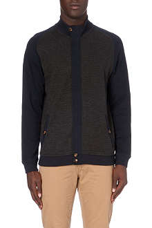 TED BAKER Herringbone zip-through cardigan
