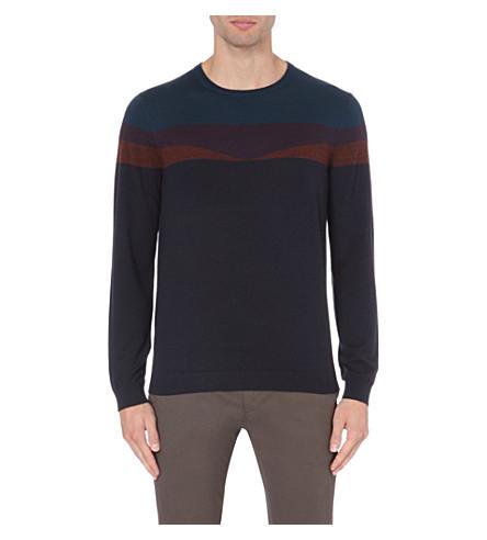 TED BAKER Farlie merino wool jumper (Navy
