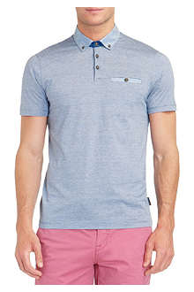 TED BAKER Lindob linen collar polo shirt