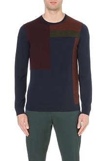 TED BAKER Colour-block merino jumper