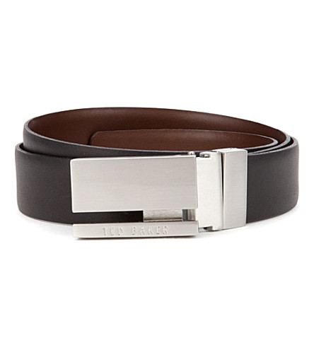 TED BAKER Ventilo reversible belt (Black