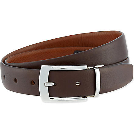 TED BAKER Bluez reversible belt (Chocolate