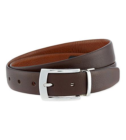TED BAKER Bluez reversible belt (Chocolate