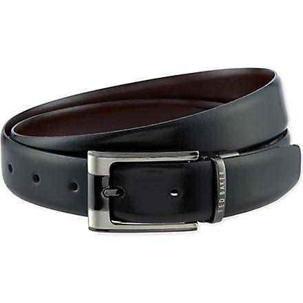 TED BAKER Smart reversible belt (Black