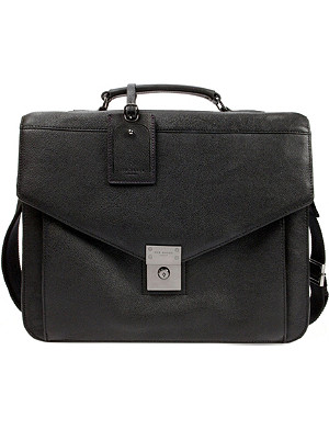 TED BAKER Lozzen push-lock leather briefcase