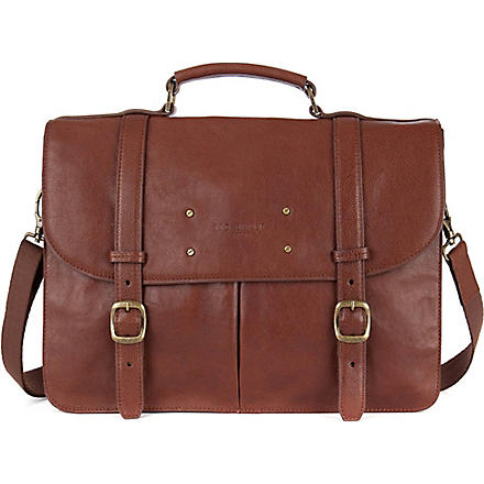 TED BAKER Nubran grained leather briefcase (Tan