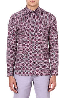 TED BAKER Single-cuff tile printed shirt