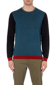 TED BAKER Basenew colour-blocked wool jumper