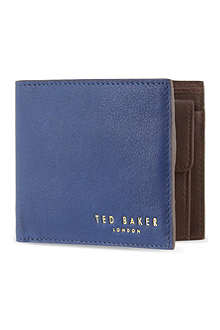 TED BAKER Losange Bright leather bifold wallet
