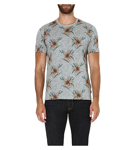 TED BAKER Mintell floral-printed t-shirt (Orange