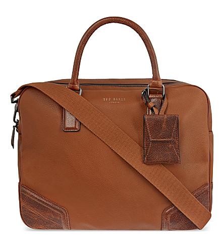 Ted baker leather document bag selfridgescom for Ted baker london leather document bag