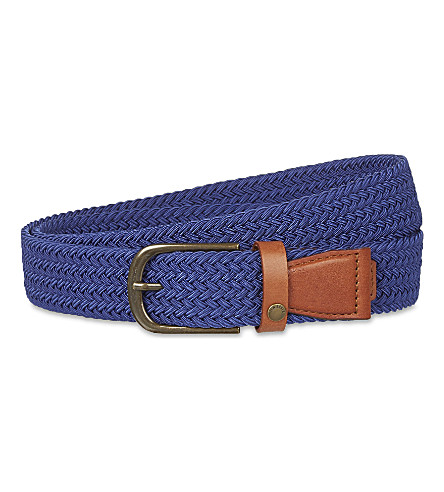 TED BAKER Lastick elasticated woven belt (Blue