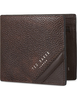 TED BAKER Contrast bifold coin wallet