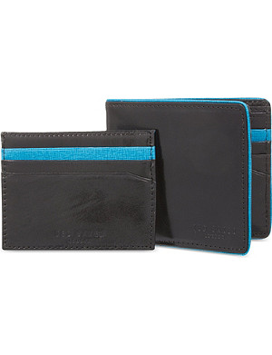 TED BAKER Piped edge bi-fold wallet