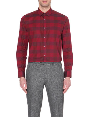 TED BAKER Regular checked cotton shirt