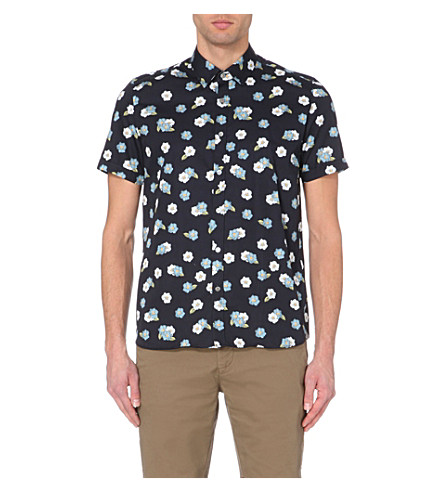 Ted baker floral printed cotton shirt for Ted baker floral shirt