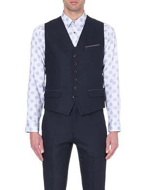TED BAKER Patterned woven waistcoat