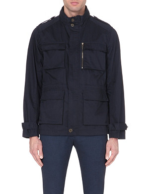 TED BAKER Cotton drawstring waist jacket