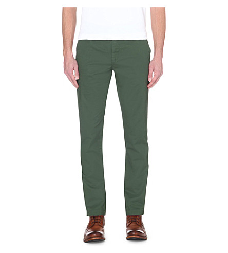 TED BAKER Classic fit stretch-cotton Bronn chino (Mid+green