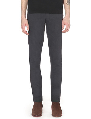 TED BAKER Cotton slim-fit trousers