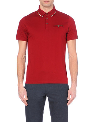 TED BAKER Cotton-jersey polo shirt
