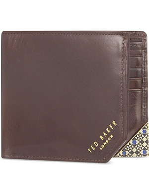 TED BAKER Enamel corner bi-fold wallet