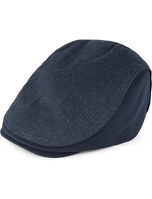 TED BAKER Herringbone cotton flat cap