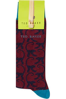 TED BAKER Monkey pattern socks