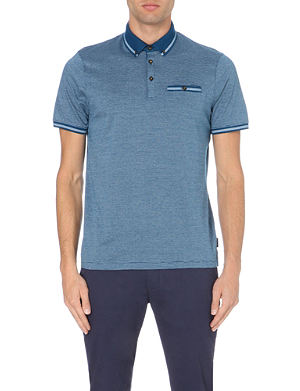 TED BAKER Fine print polo shirt