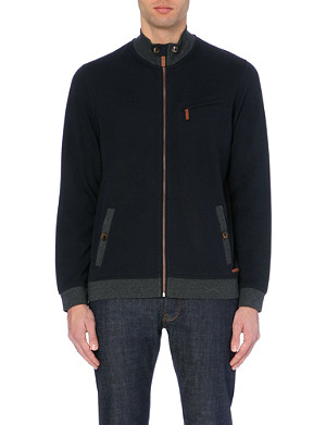 TED BAKER Zipbev funnel-neck jersey jacket