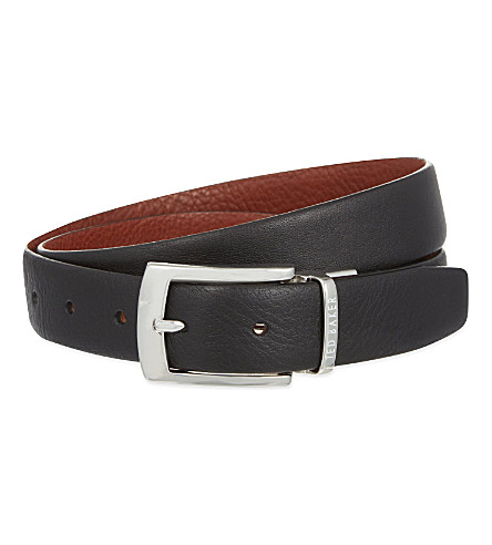 TED BAKER Smart reversible belt (Black
