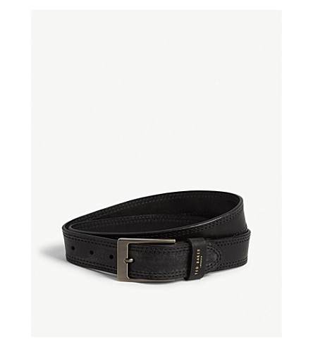 TED BAKER Cricket stitch belt (Black