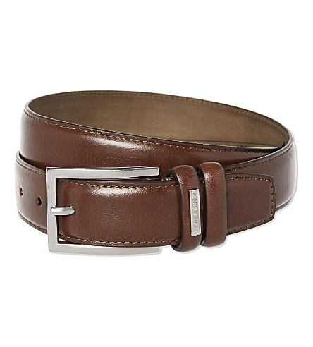 TED BAKER Leather belt (Chocolate