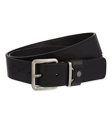 TED BAKER Leather belt (Black