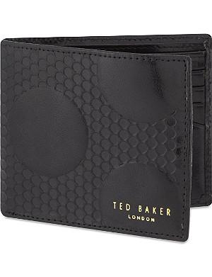 TED BAKER Spot embossed leather bi-fold wallet