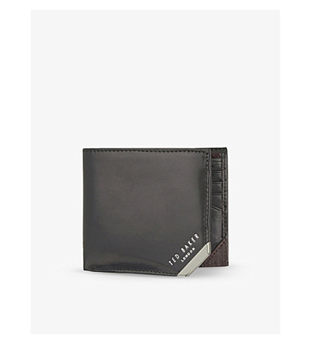 TED BAKER Metal corner wallet (Black