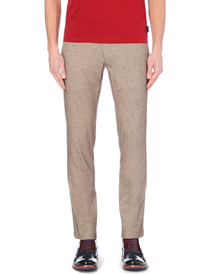 TED BAKER Slim fit herringone trousers