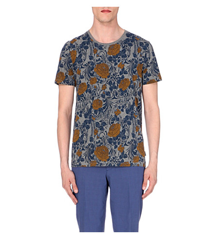 Ted Baker Floral Print T Shirt