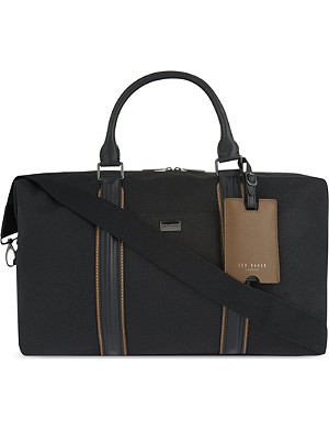 TED BAKER Canvas and leather holdall