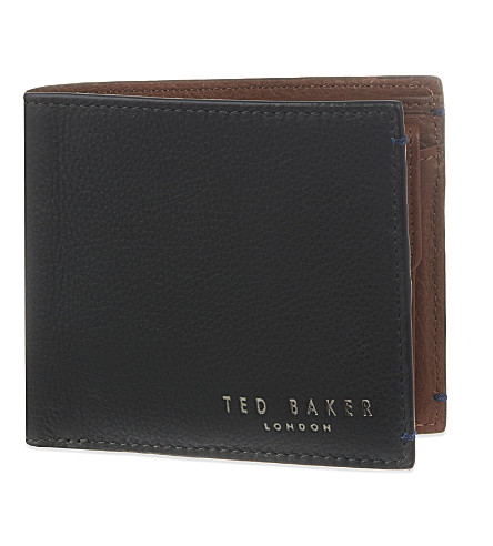 TED BAKER Colourblock leather billfold wallet (Green