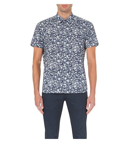 Ted baker floral print cotton shirt for Ted baker floral shirt