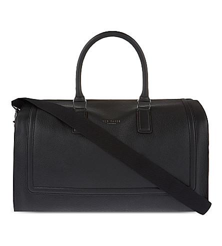 TED BAKER Raised edge leather duffel bag (Black