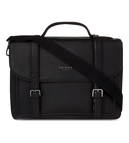 TED BAKER Jagala leather satchel (Black
