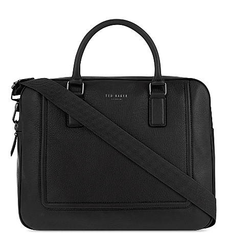 TED BAKER Ragna leather briefcase (Black